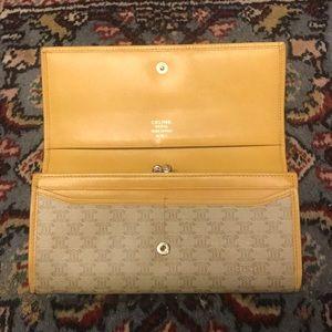 CELINE mustard/tan classic coin purse wallet